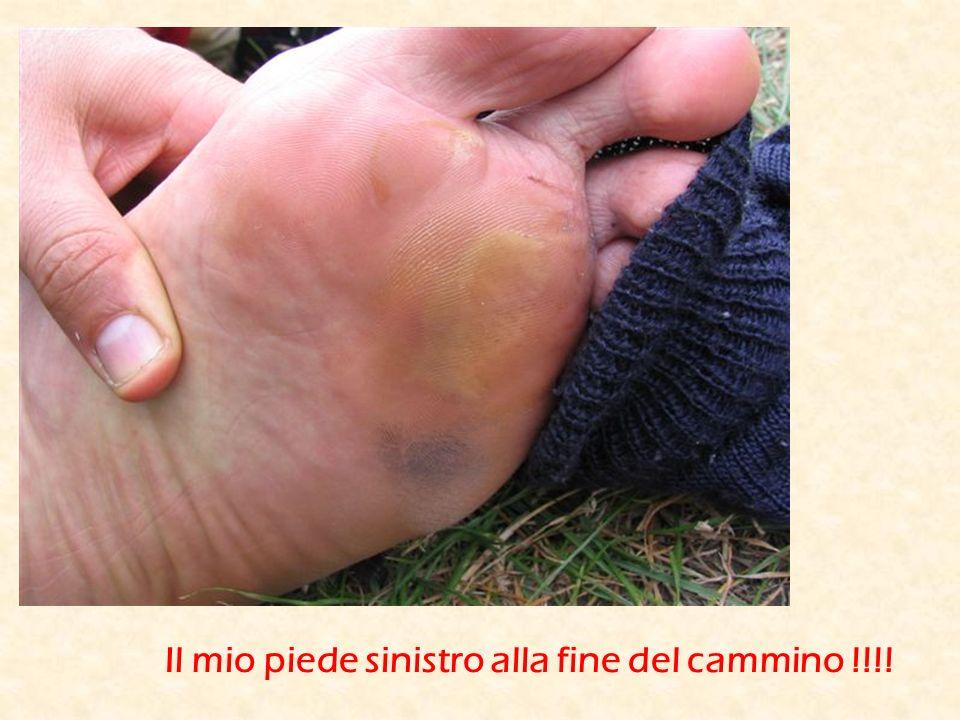 Il mio piede sinistro alla fine del cammino !!!!