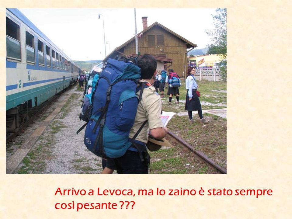 Arrivo a Levoca, ma lo zaino è stato sempre così pesante