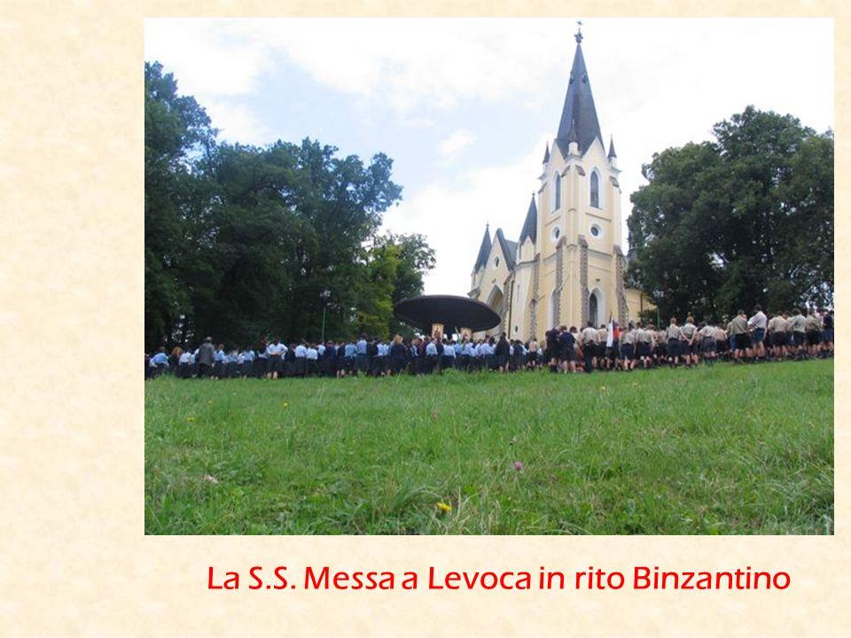 La S.S. Messa a Levoca in rito Binzantino