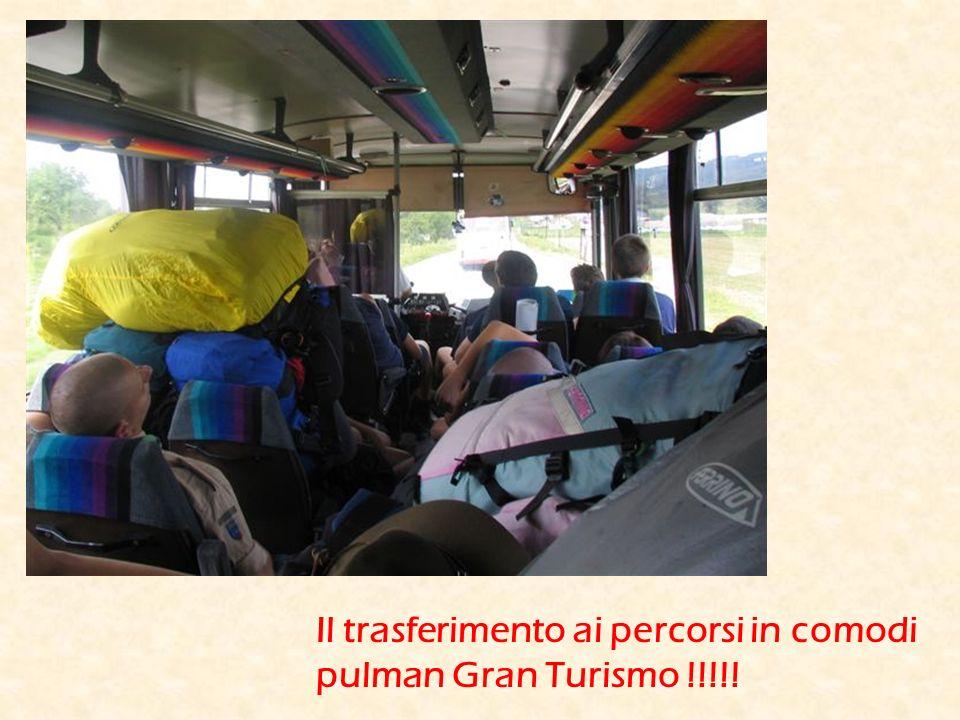Il trasferimento ai percorsi in comodi pulman Gran Turismo !!!!!