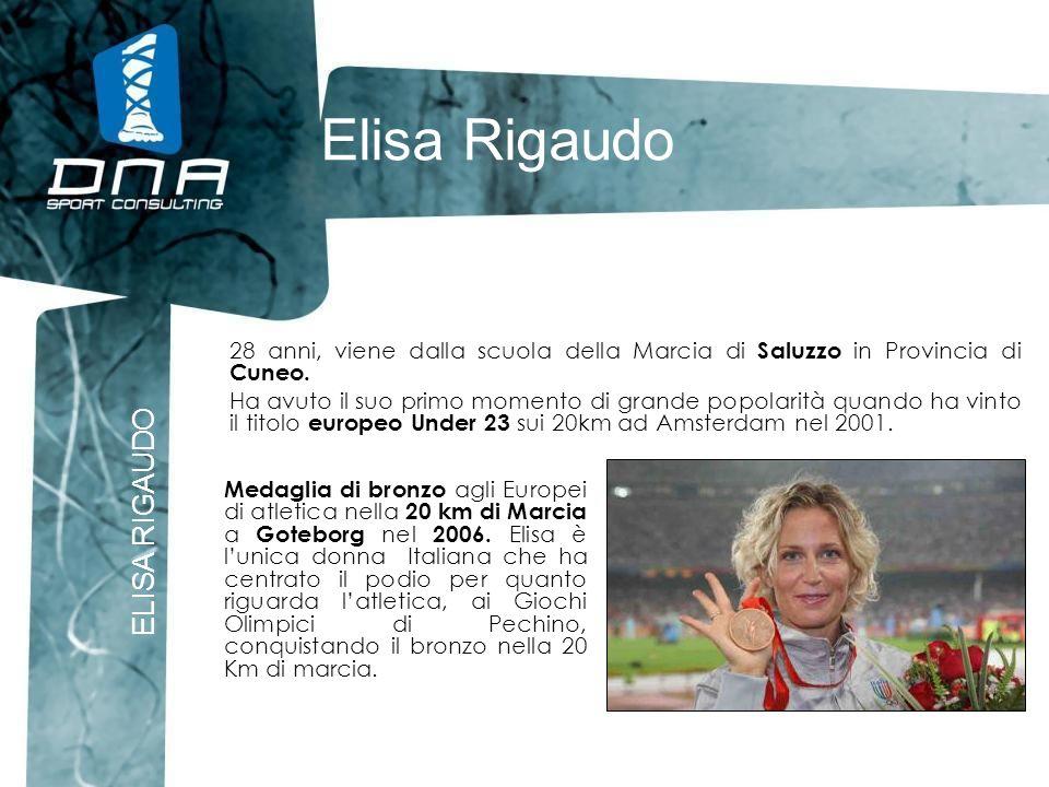 Elisa Rigaudo 28 anni, viene dalla scuola della Marcia di Saluzzo in Provincia di Cuneo. Ha avuto il suo primo momento di grande popolarità quando ha