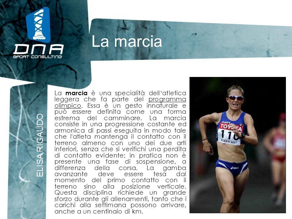 La marcia ELISA RIGAUDO La marcia è una specialità dellatletica leggera che fa parte del programma olimpico. Essa è un gesto innaturale e può essere d