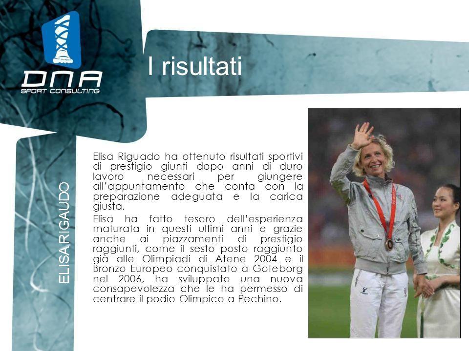 I risultati ELISA RIGAUDO Elisa Riguado ha ottenuto risultati sportivi di prestigio giunti dopo anni di duro lavoro necessari per giungere allappuntam