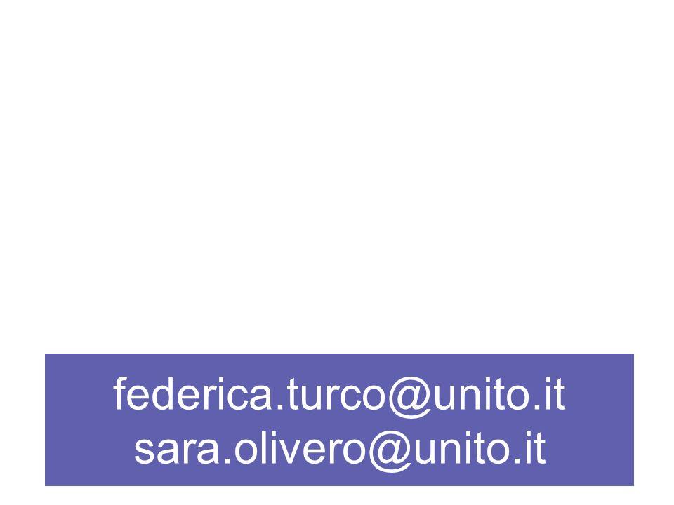 federica.turco@unito.it sara.olivero@unito.it