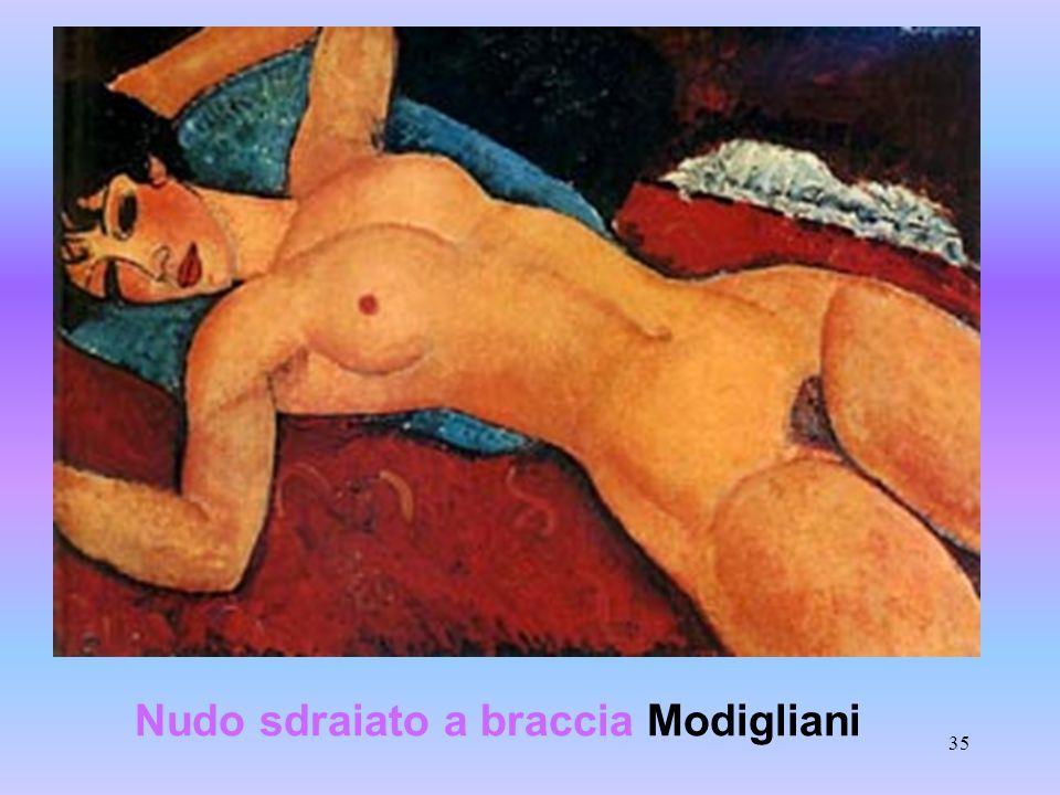 35 Nudo sdraiato a braccia Modigliani