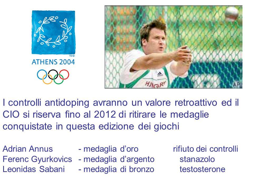 I controlli antidoping avranno un valore retroattivo ed il CIO si riserva fino al 2012 di ritirare le medaglie conquistate in questa edizione dei gioc