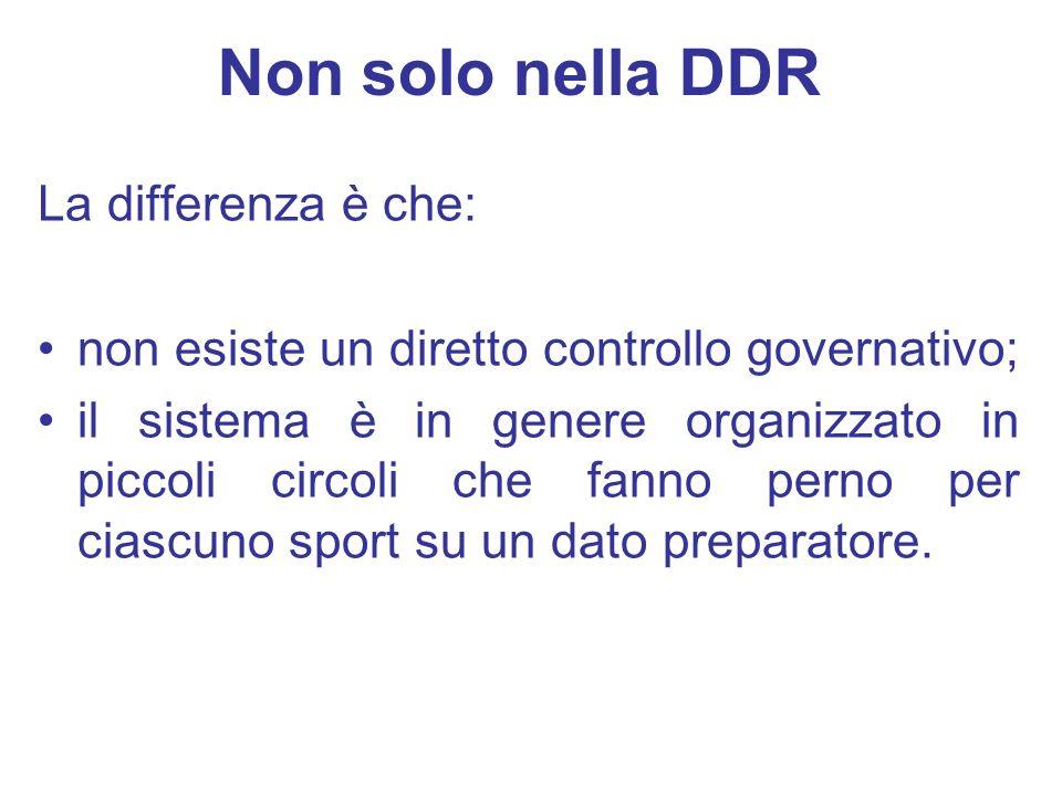 La differenza è che: non esiste un diretto controllo governativo; il sistema è in genere organizzato in piccoli circoli che fanno perno per ciascuno s