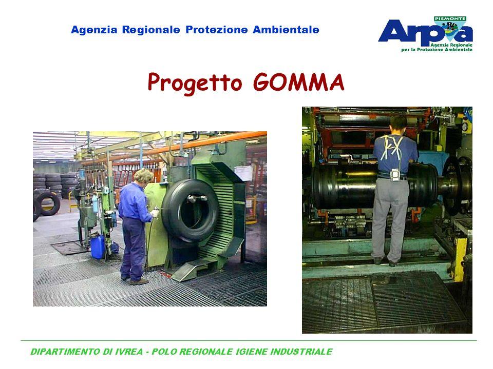 DIPARTIMENTO DI IVREA - POLO REGIONALE IGIENE INDUSTRIALE Agenzia Regionale Protezione Ambientale Progetto GOMMA