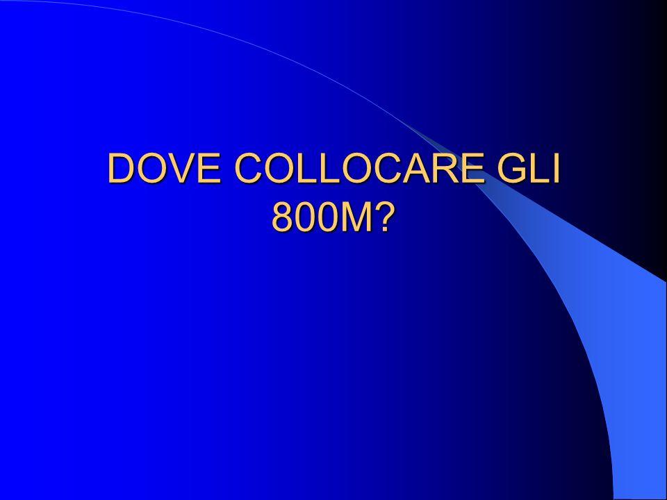 DOVE COLLOCARE GLI 800M?