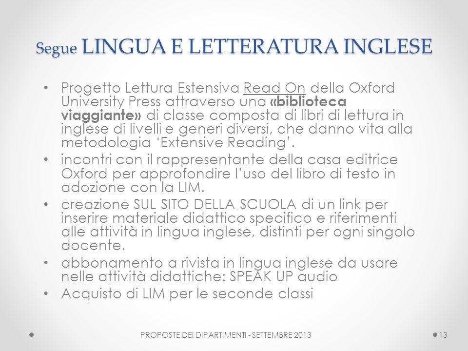 Segue LINGUA E LETTERATURA INGLESE Progetto Lettura Estensiva Read On della Oxford University Press attraverso una «biblioteca viaggiante» di classe c
