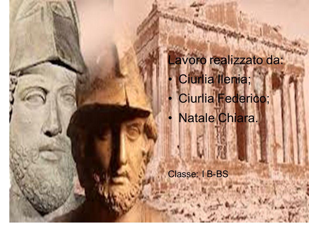 Lavoro realizzato da: Ciurlia Ilenia; Ciurlia Federico; Natale Chiara. Classe: I B-BS