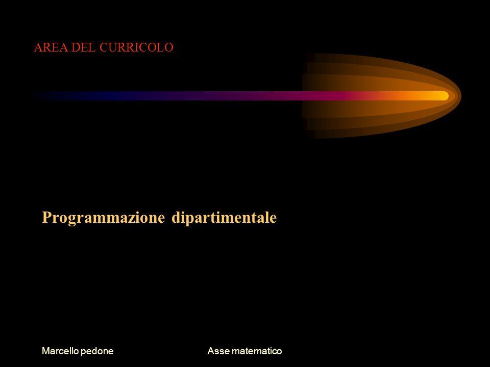 Marcello pedoneAsse matematico AREA DI INTEGRAZIONE Metodo di studio disciplinare: il linguaggio matematico e gli strumenti informatici Le olimpiadi di matematica Matematica senza frontiere OCSE Pisa Olimpiadi di informatica