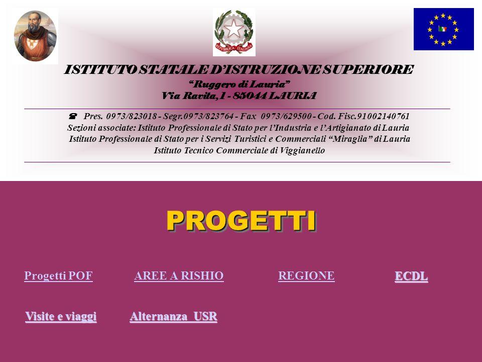ISTITUTO STATALE DISTRUZIONE SUPERIORE Ruggero di Lauria Via Ravita, 1 - 85044 LAURIA Pres. 0973/823018 - Segr.0973/823764 - Fax 0973/629500 - Cod. Fi