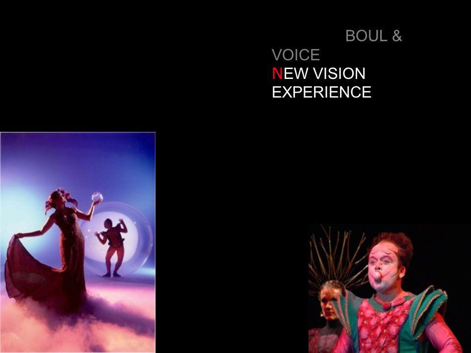BOUL & VOICE N EW VISION EXPERIENCE