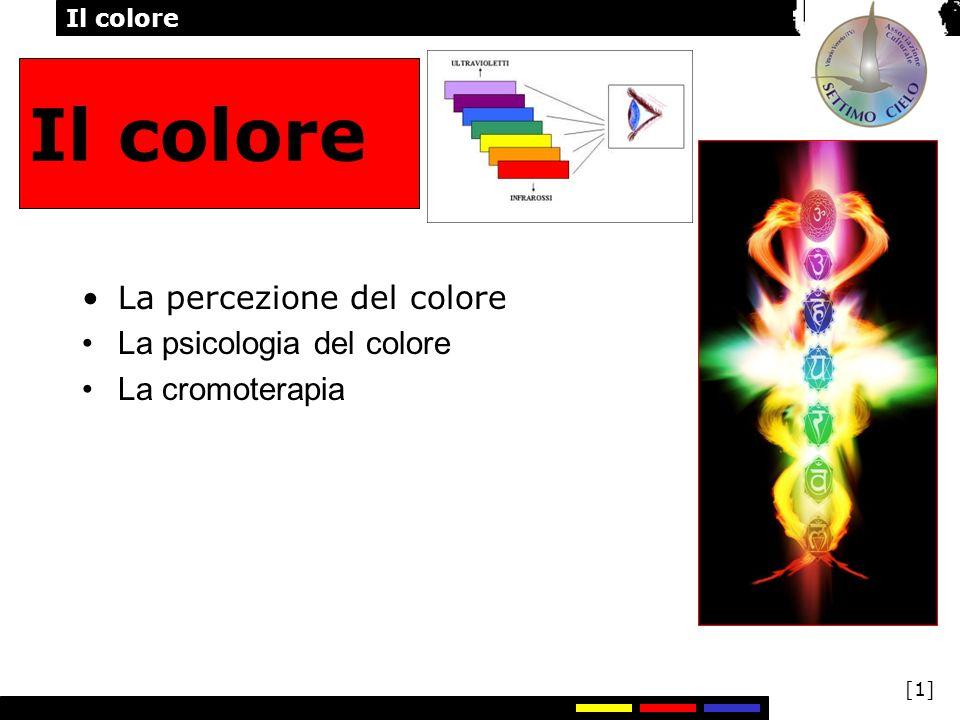 Il colore [1] Il colore La percezione del colore La psicologia del colore La cromoterapia