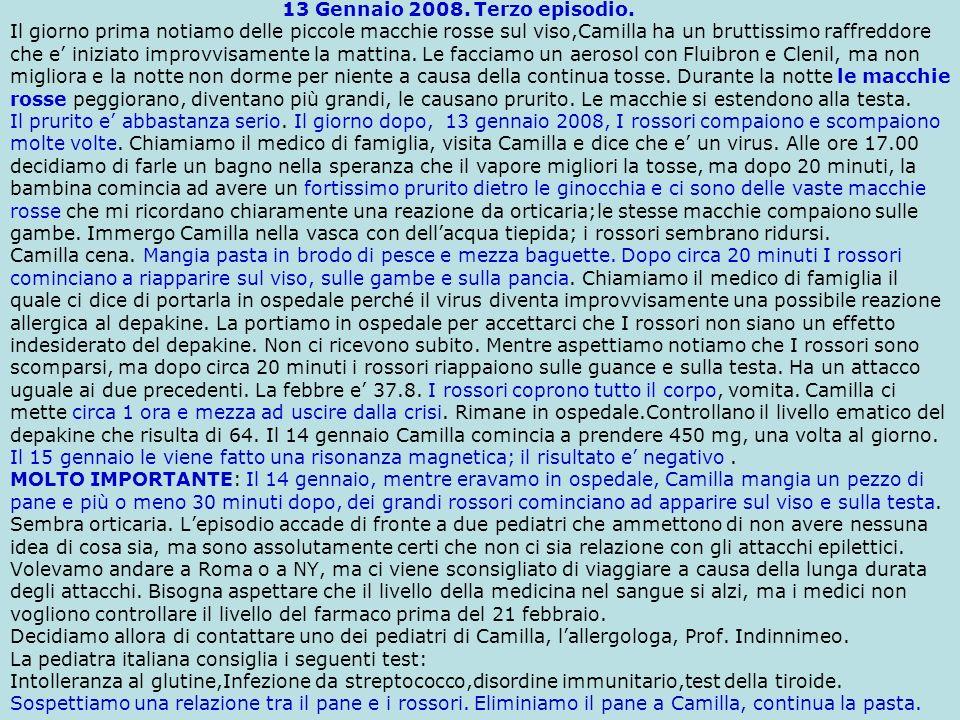 Il 16 febbraio 2008 ci siamo recati a Madrid per una visita con il neurologo Dr.