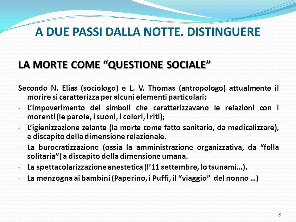 1.AA.VV., La morte oggi, Feltrinelli, MI, 1985. 2.