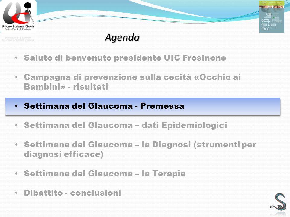 La Diagnosi – esami strumentali Settimana del Glaucoma – La Diagnosi TONOMETRIA GONIOSCOPIA OFTALMOSCOPIA - COBRA ESAME DEL Campo Visivo Computerizzato O.C.T.