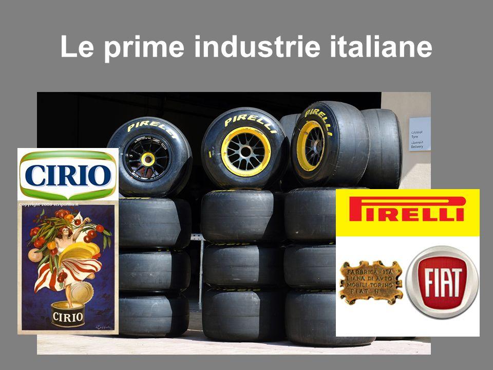 Le prime industrie italiane