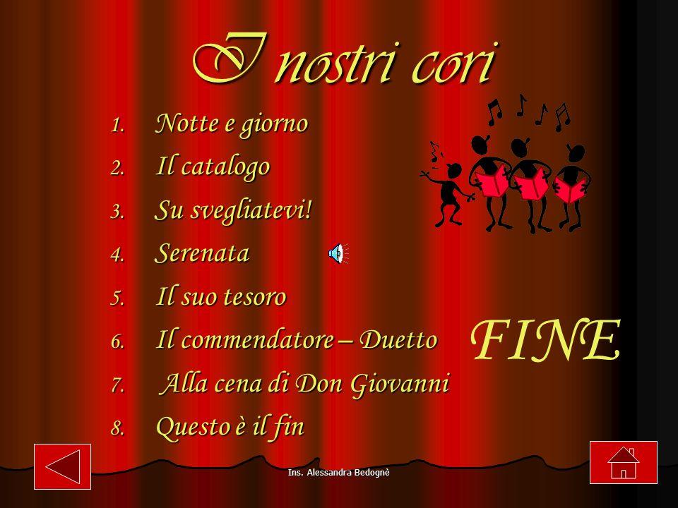 Ins.Alessandra Bedognè I nostri cori 1. Notte e giorno 2.