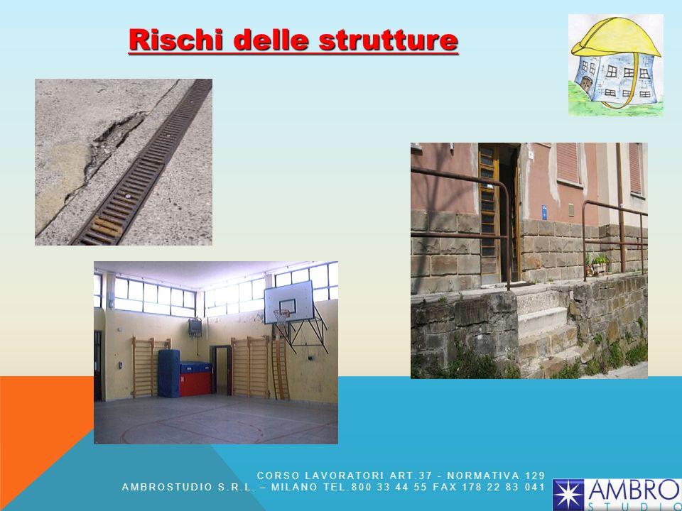 Rischi delle strutture CORSO LAVORATORI ART.37 - NORMATIVA 129 AMBROSTUDIO S.R.L. – MILANO TEL.800 33 44 55 FAX 178 22 83 041
