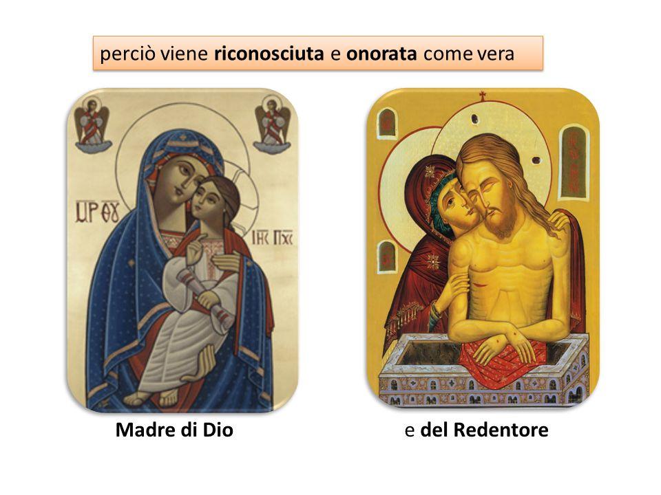 perciò viene riconosciuta e onorata come vera Madre di Dioe del Redentore