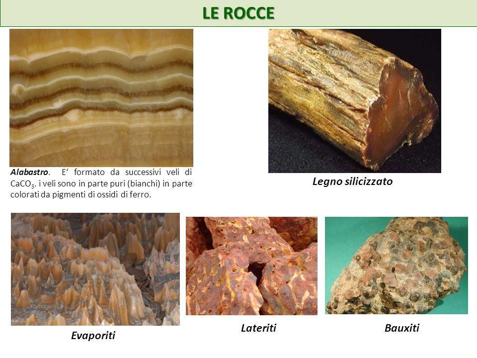 LE ROCCE Alabastro.E formato da successivi veli di CaCO 3.