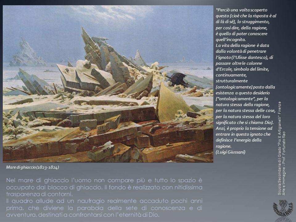 Scuola Secondaria di I Grado Pio X Artigianelli Firenze Arte e Immagine - Prof. Fortunato Rao Mare di ghiaccio (1823-1824) Perciò una volta scoperto q
