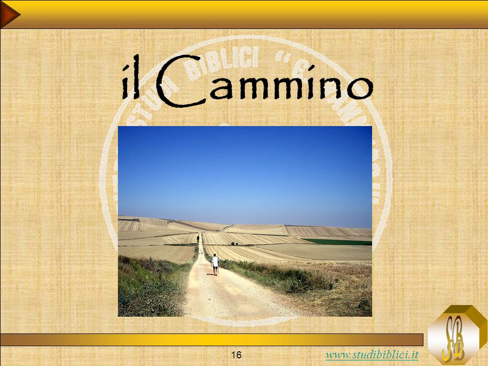 www.studibiblici.it 16 il Cammino
