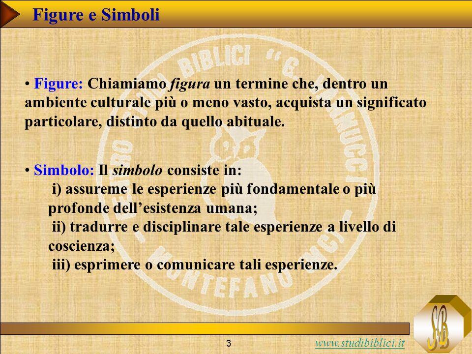 www.studibiblici.it 3 Figure e Simboli Figure: Chiamiamo figura un termine che, dentro un ambiente culturale più o meno vasto, acquista un significato particolare, distinto da quello abituale.