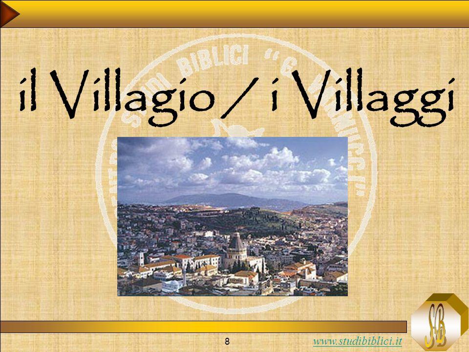 www.studibiblici.it 9 Figure: Il villaggio / i villaggi Accanto alle figure ereditate dallAT, ne troviamo altre create degli evangelisti.
