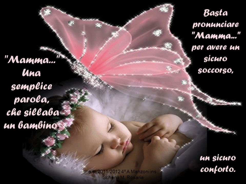 Come un aquilone senza corda o una farfalla senza unala, tu mamma mi hai insegnato a volare con la semplice forza della volontà e la fugacità dei sogni!