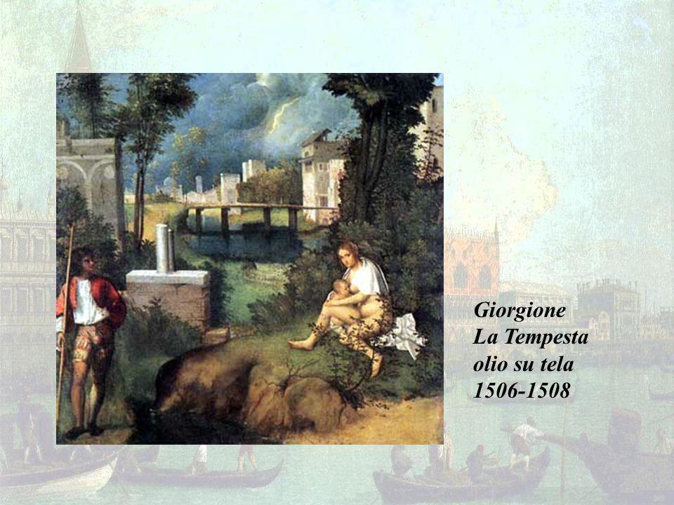 Giorgione La Tempesta olio su tela 1506-1508