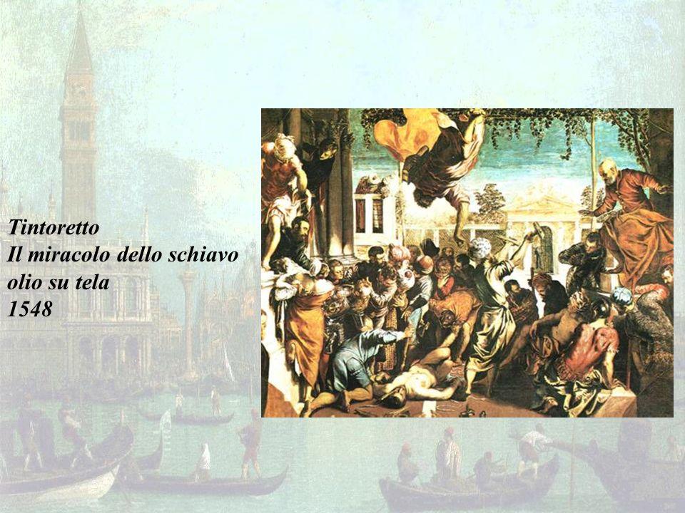 Tintoretto Il miracolo dello schiavo olio su tela 1548