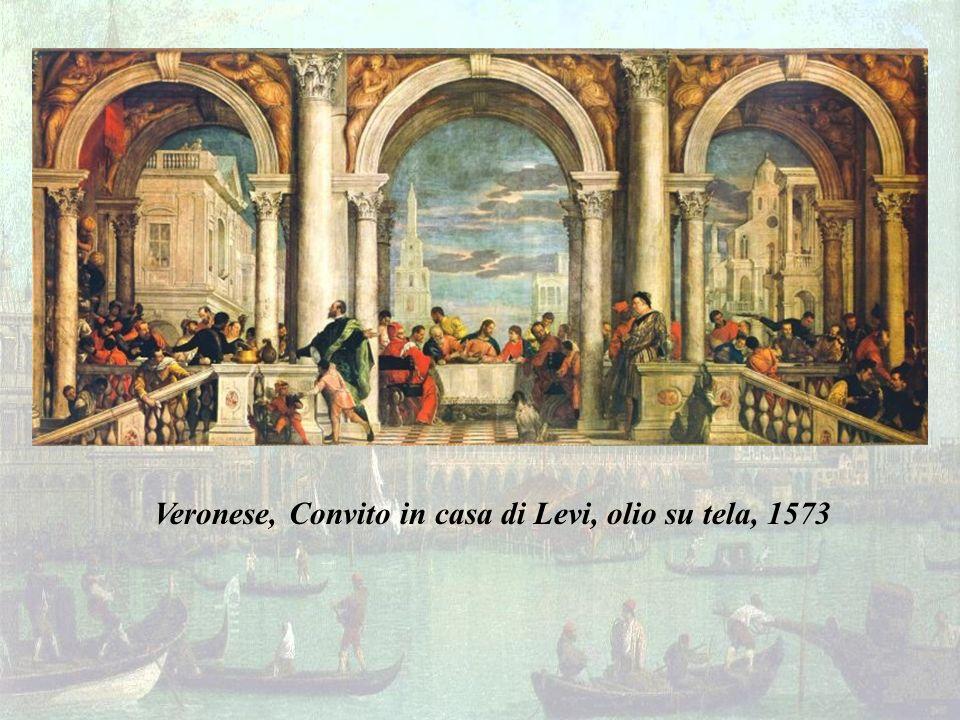 Veronese, Convito in casa di Levi, olio su tela, 1573