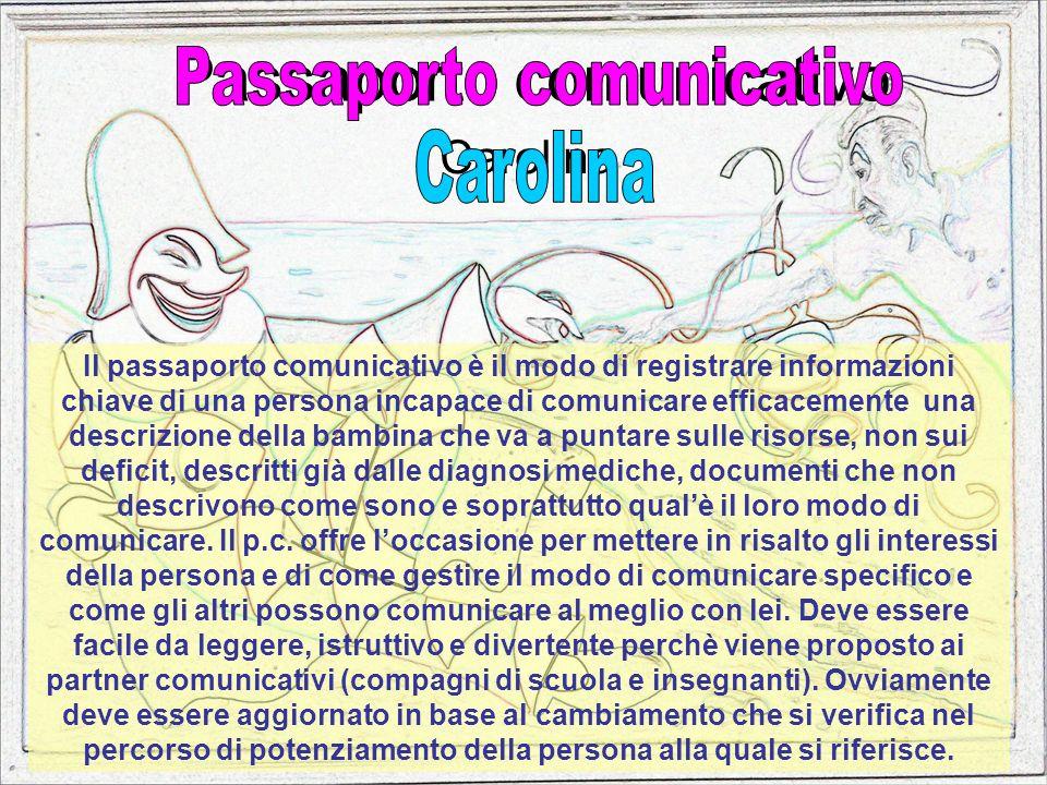 Passaporto comunicativo Carolina Il passaporto comunicativo è il modo di registrare informazioni chiave di una persona incapace di comunicare efficace