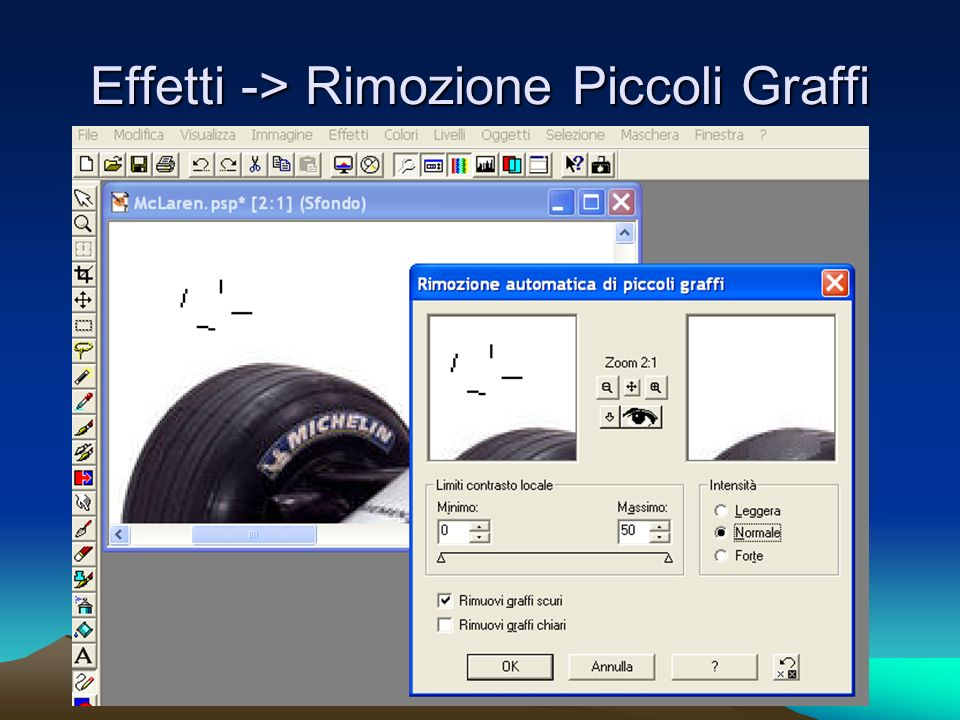Effetti -> Rimozione Piccoli Graffi