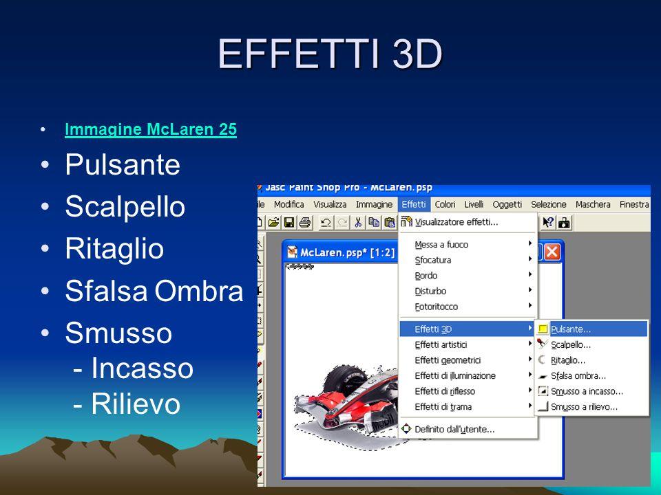 EFFETTI 3D Immagine McLaren 25 Pulsante Scalpello Ritaglio Sfalsa Ombra Smusso - Incasso - Rilievo