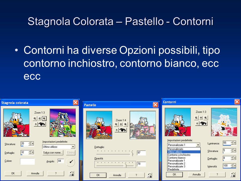 Stagnola Colorata – Pastello - Contorni Contorni ha diverse Opzioni possibili, tipo contorno inchiostro, contorno bianco, ecc ecc