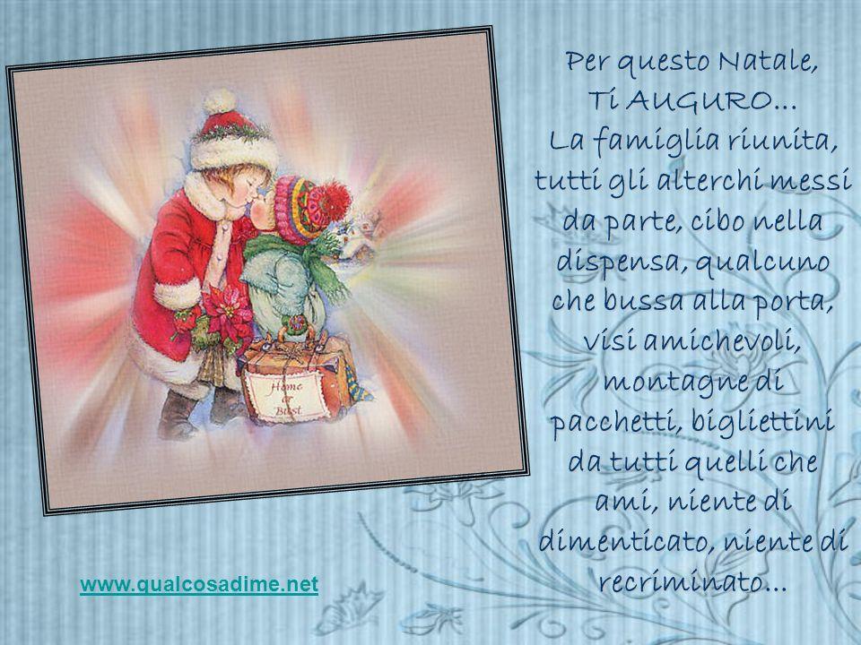 Per questo Natale, Ti AUGURO...