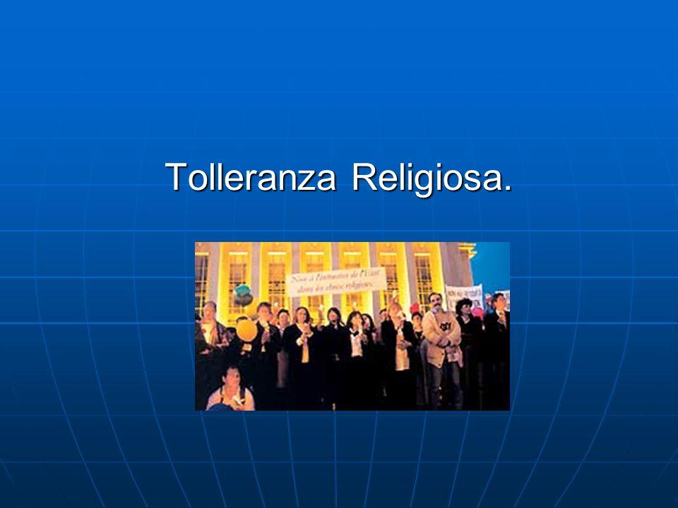 Tolleranza Religiosa.