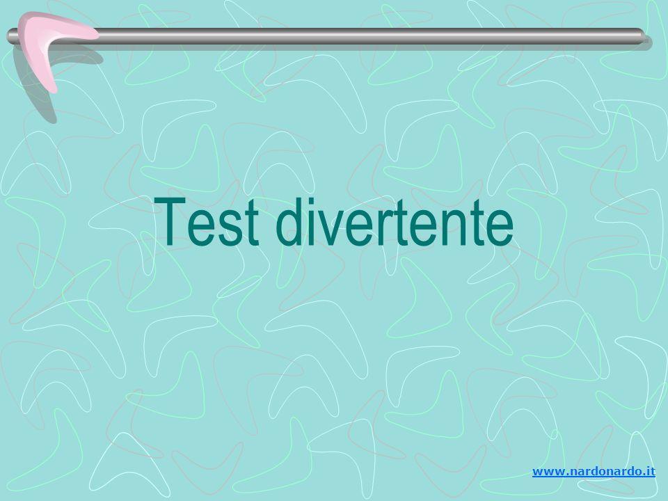 Fete questo test per voi stessi...E inviatelo ai vostri amici, me compreso.