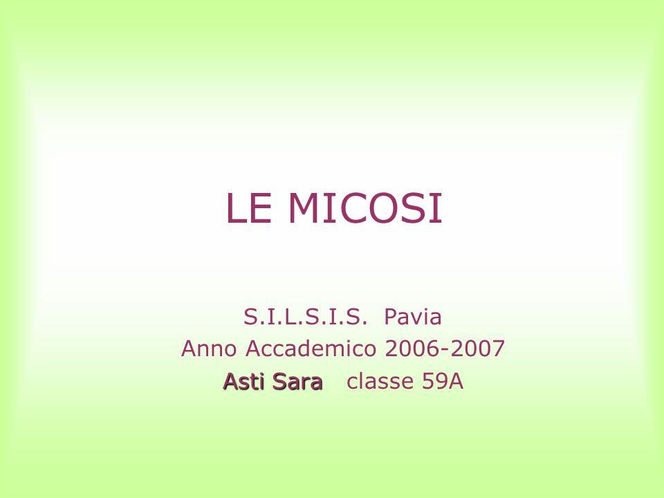 LE MICOSI S.I.L.S.I.S. Pavia Anno Accademico 2006-2007 Asti Sara Asti Sara classe 59A