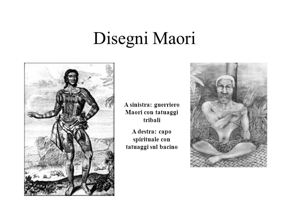 La divisione del tatuaggio facciale delluomo Maori 1.Ngakaipjkirau Il rango sociale 2.Ngunga Posizione nella vita 3.Uirire Linea del rango – stato soc
