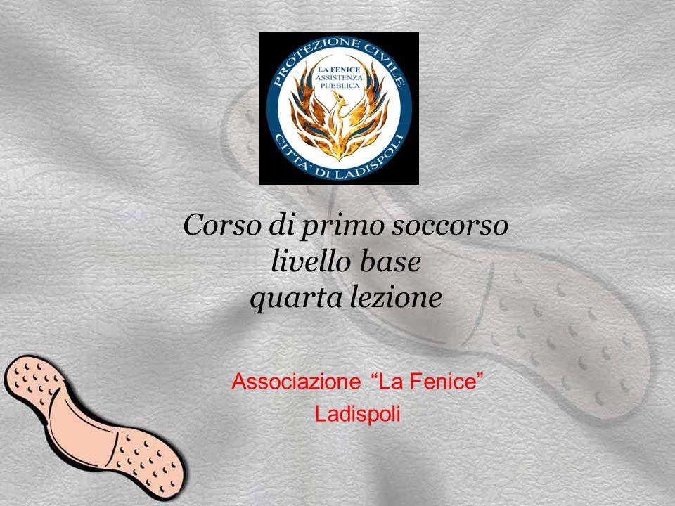 Corso di primo soccorso livello base quarta lezione Associazione La Fenice Ladispoli