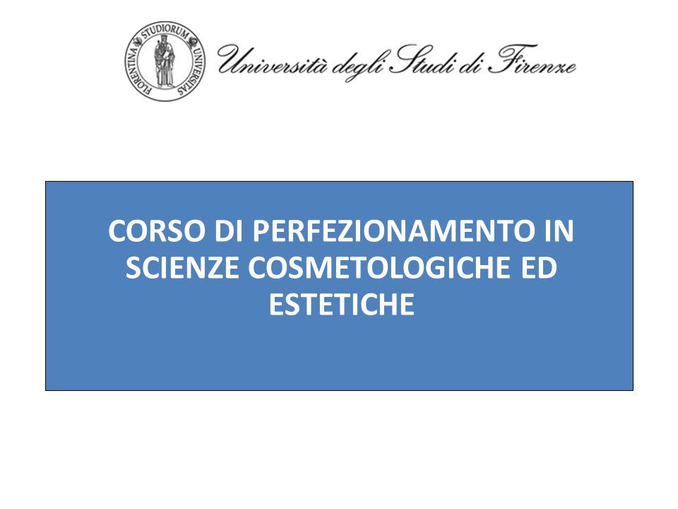 ORGANIZZATO DALLUNIVERSITA DEGLI STUDI DI FIRENZE (CIDEBIP – Centro interuniversitario di Dermatologia Biologica e Psicosomatica Fi-Siena-MI) IN COLLABORAZIONE CON LA CNA NAZIONALE PREVISTE 200 ORE DI DIDATTICA SUDDIVISE TRA LEZIONI FRONTALI, DI TIROCINIO E DI ESERCITAZIONI PRATICHE SULLE PRINCIPALI MATERIE DI ESTETICA SI ACCEDERA AL CORSO ATTRAVERSO UN ESAME DI AMMISSIONE NAZIONALE