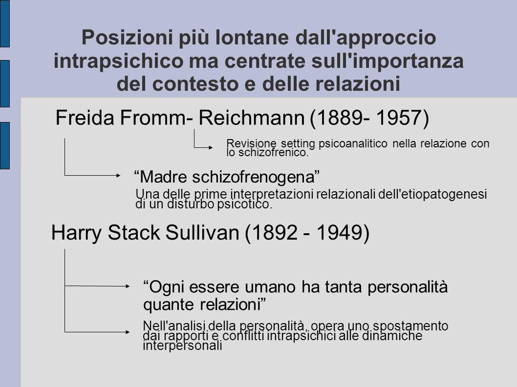 Family Neurosis and Neurotic Family Tema di uno dei primi congressi di psicoanalisi Nyon, Svizzera (1936) L importanza del tema non fu subito compresa La psicoanalisi non era ancora pronta ad allargare i propri orizzonti al d là dell individuo
