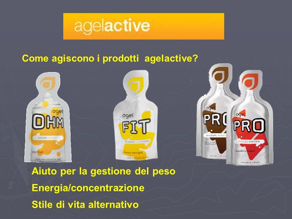 Come agiscono i prodotti agelactive? Aiuto per la gestione del peso Energia/concentrazione Stile di vita alternativo