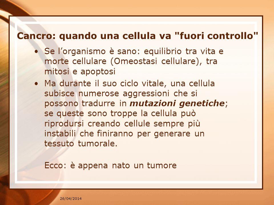 26/04/2014 Cancro: quando una cellula va