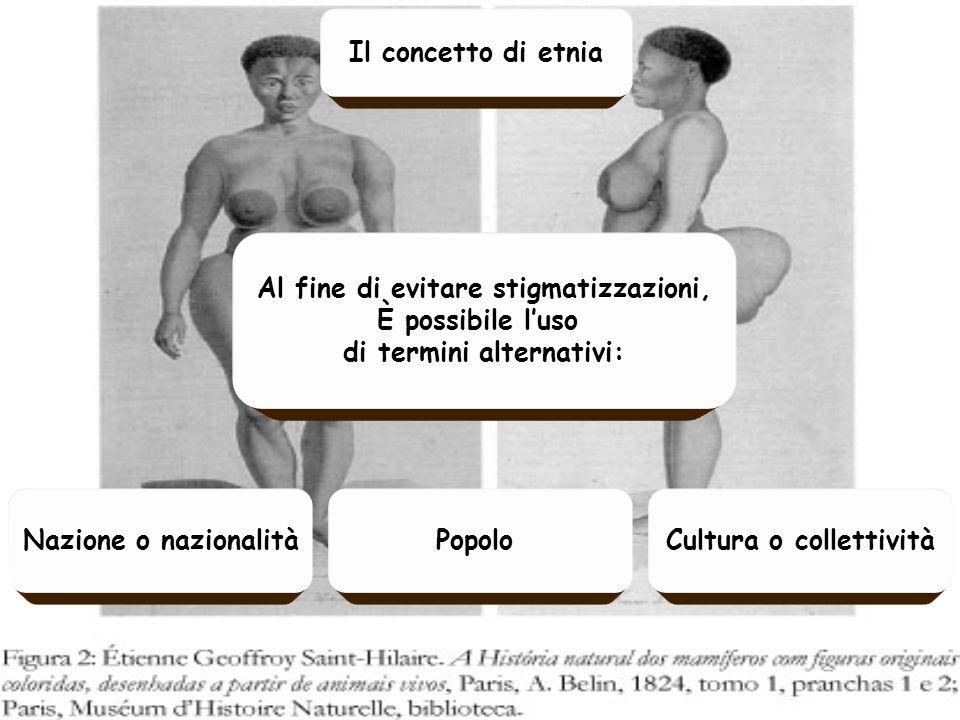 Al fine di evitare stigmatizzazioni, È possibile luso di termini alternativi: Il concetto di etnia Cultura o collettivitàNazione o nazionalitàPopolo